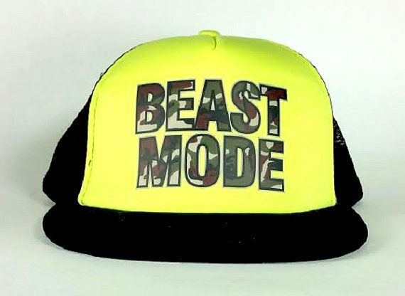 Crossfit Beast Mode Trucker Neon Green Black hat by ShirtoftheDay ... 9c69724b7665