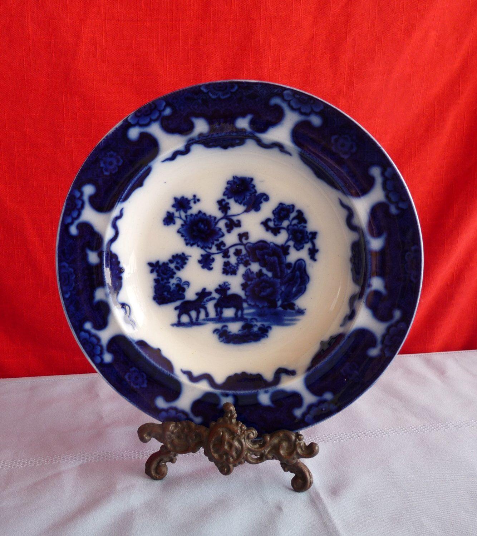 Francis Morley, England - Dark Flow Blue 1850 CASHMERE Oriental ...