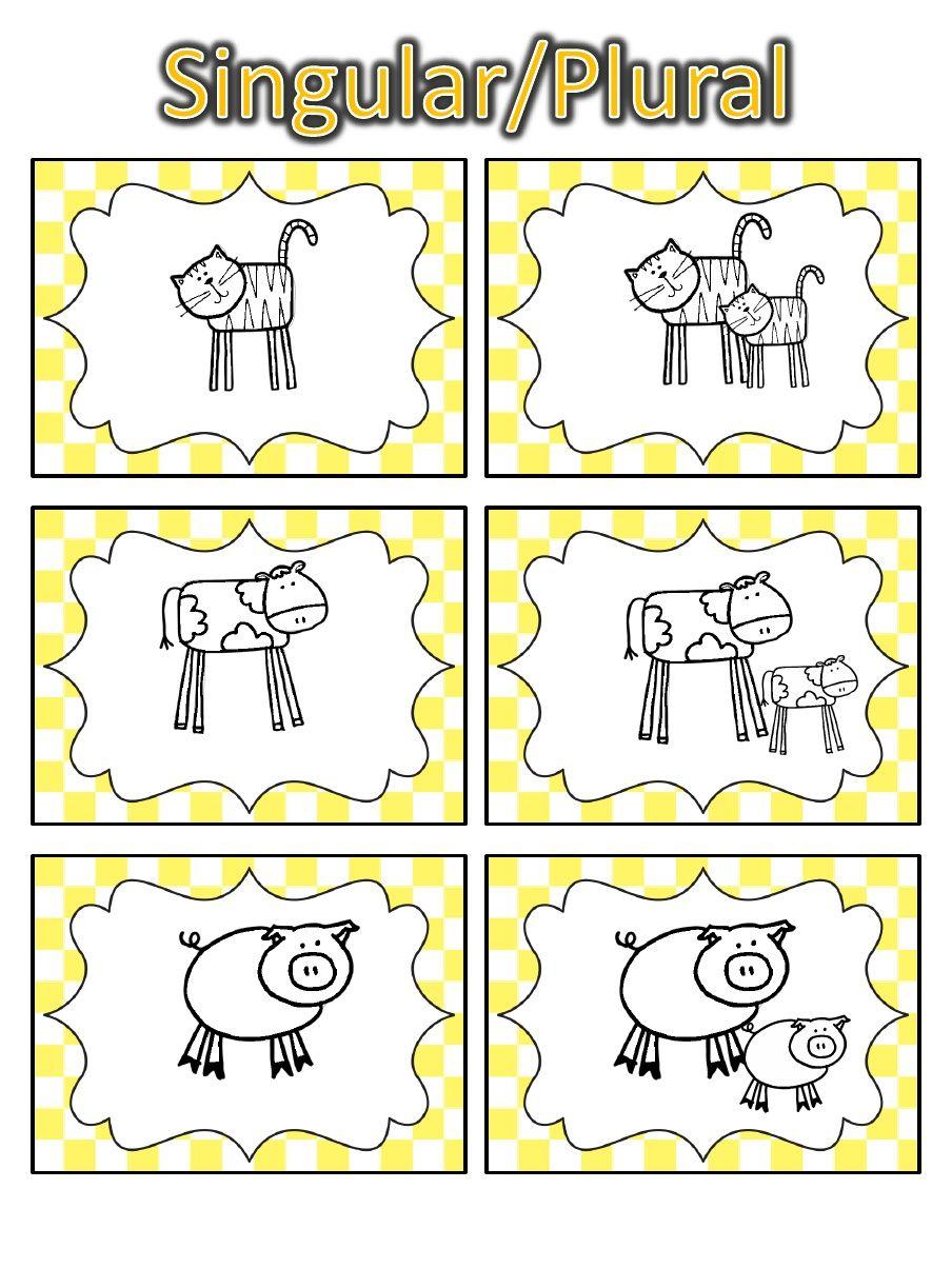Singular Plural Cards Plurals Singular And Plural Speech And Language [ 1204 x 904 Pixel ]