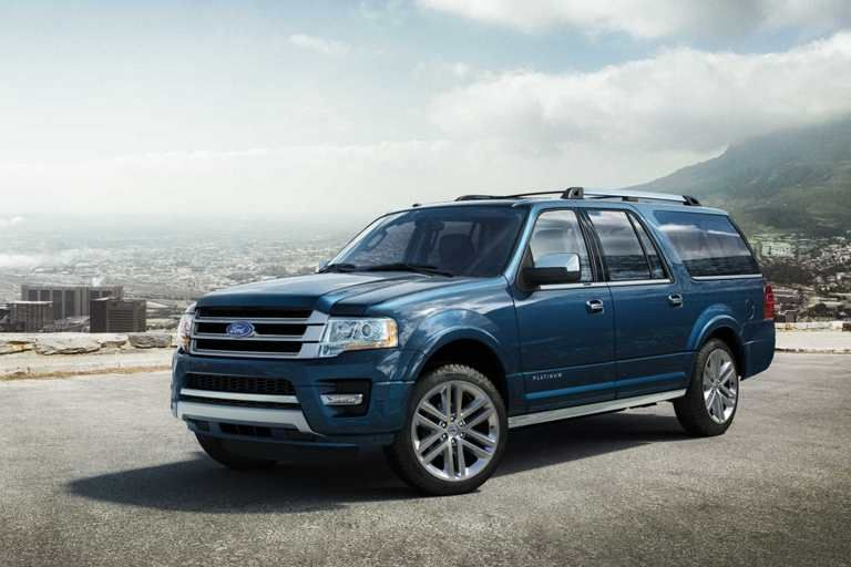 2017 Ford Expedition Platinum El Extended Lenght Model In Blue Jeans Ford Expedition New Ford Expedition Expedition