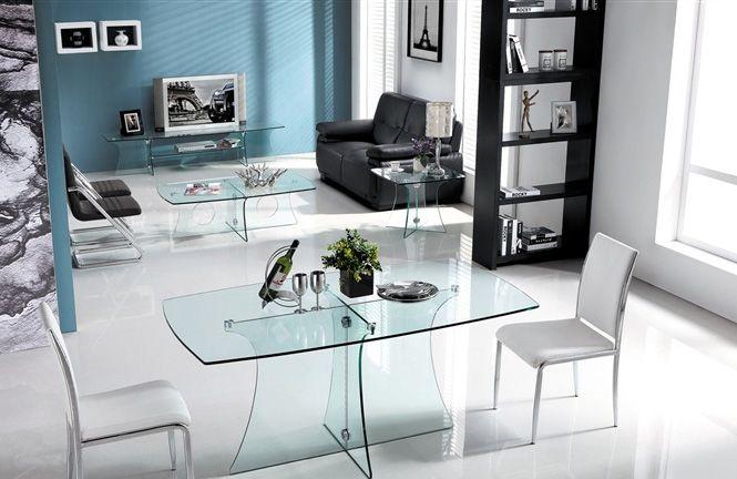 Mesa Tv Centro De Cristal Transparente Mesa Comedor Cristal Mesas Para Tv Mesas Centro Salon