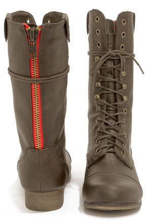 6894fd62e25d Madden Girl Gamblez Brown Pari Lace-Up Combat Boots