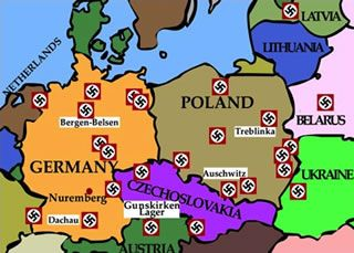 Concentration Camps In Europe Map.Using The Term Polish Concentration Camps To Be Prosecuted As A