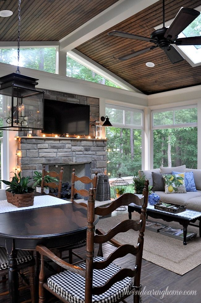 Outdoor Covered Patio With Fireplace Great Addition Idea Dream Dream Dream: Top Ten Posts Of 2015 (and Sharing A Few Decorating Project Ideas For The Year Ahead)