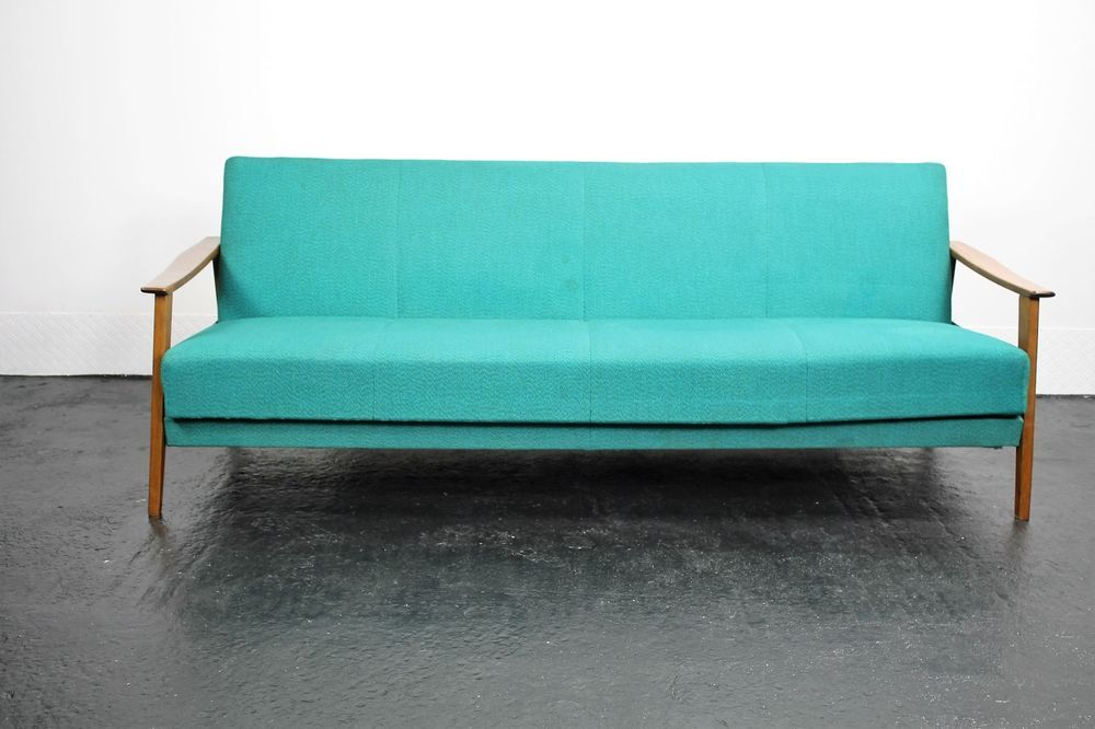 Sofa Schlafsofa Couch Vitage Schlafcouch Mid Century Daybed Design