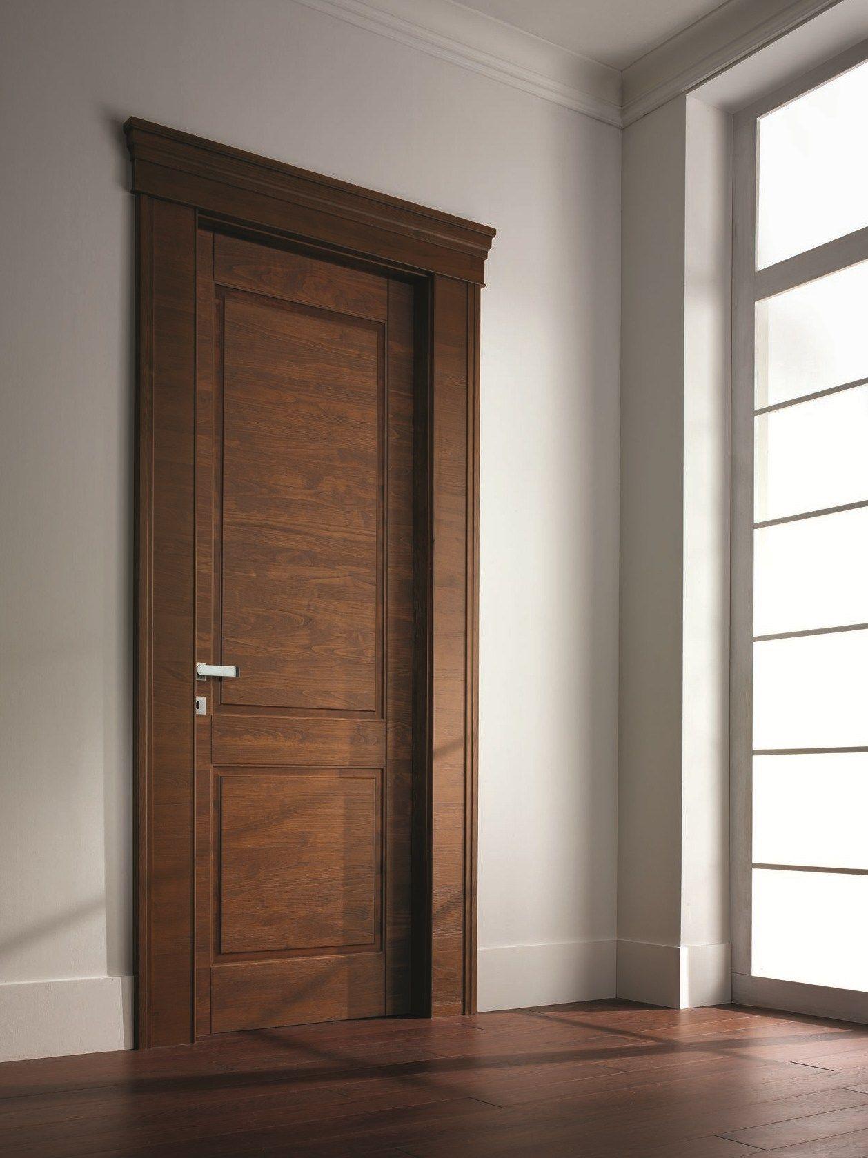 Hinged Solid Wood Door Arca Chestnut Door Neo Classic Series By