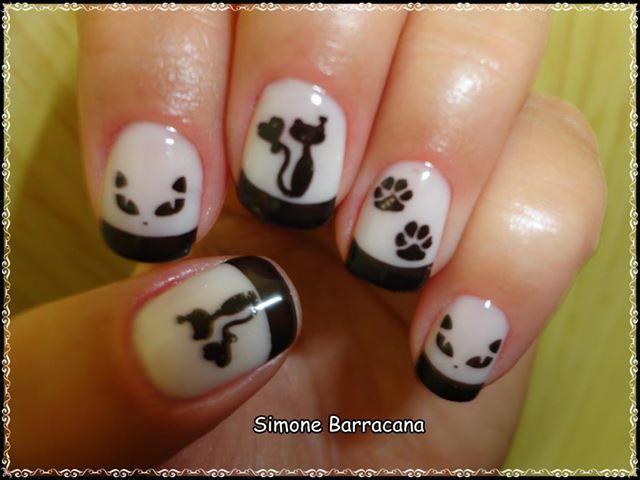 gatitos stamping !!! black and white