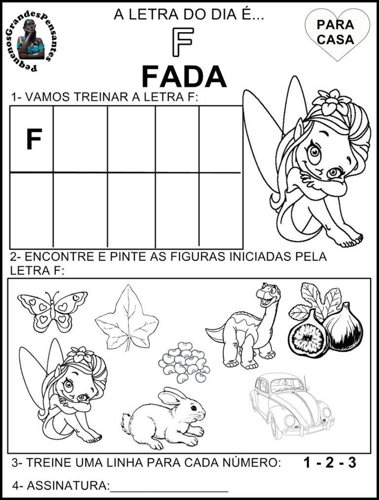 Familia Silabica Letra F Letra Do Dia Atividade Alfabeto