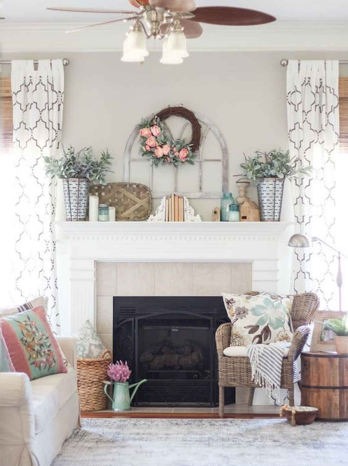 50 Beautiful Spring Mantel Decorating Ideas Fireplace Mantel Decor Spring Mantle Decor Spring Mantle