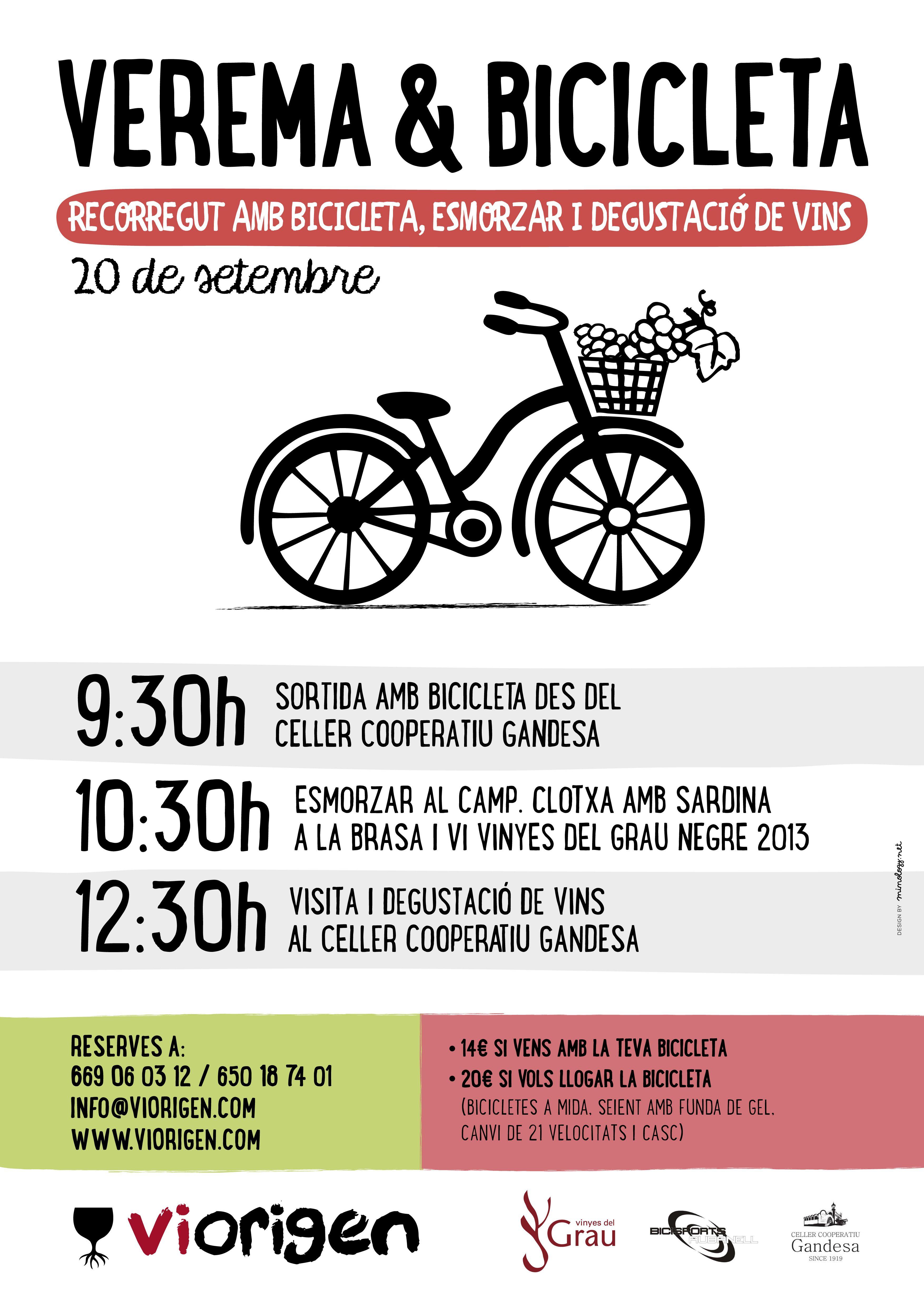 Ruta amb bicicleta, clotxa i temps de verema. Més informació a www.viorigen.com