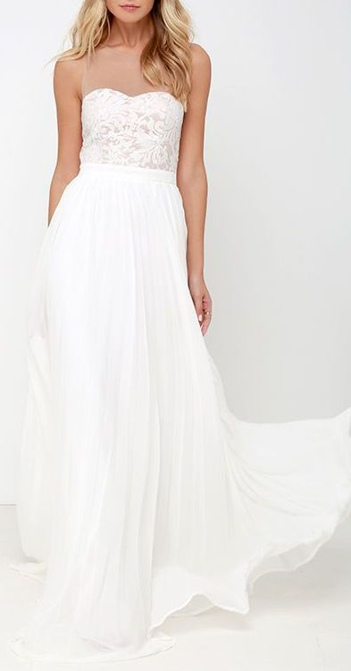 I'm Flattered Ivory Embroidered Maxi Dress