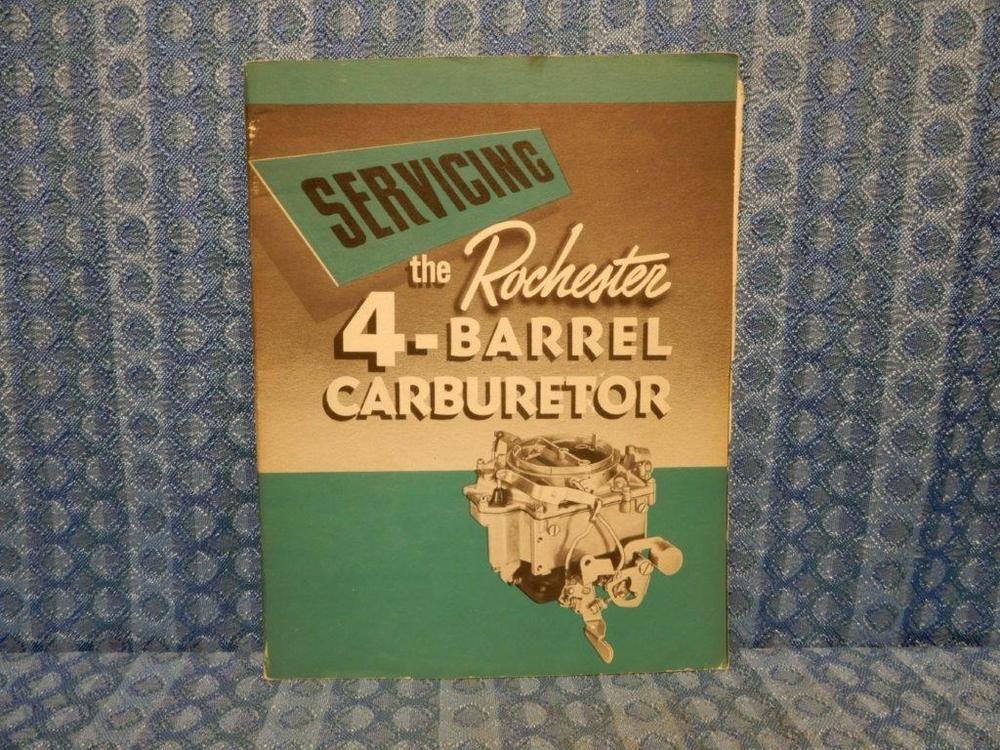 1955 Buick Rochester 4 Bbl Carburetor Original Service Manual Buick Carburetor Buick Manual