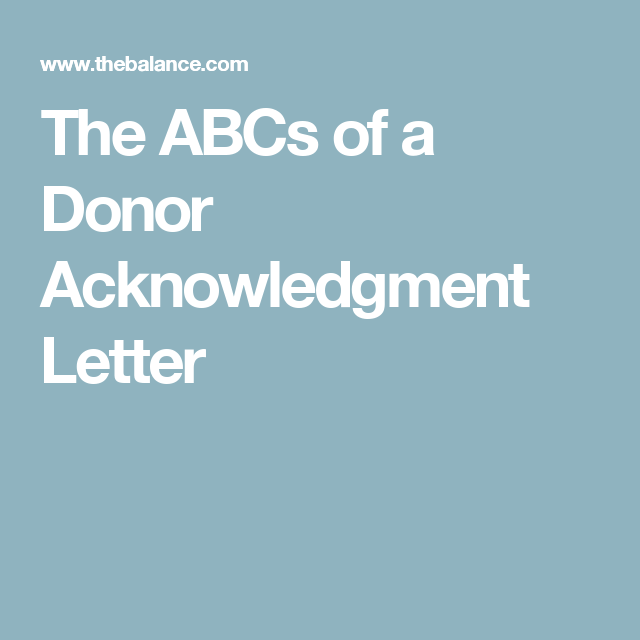 why donation acknowledgment letters are so important