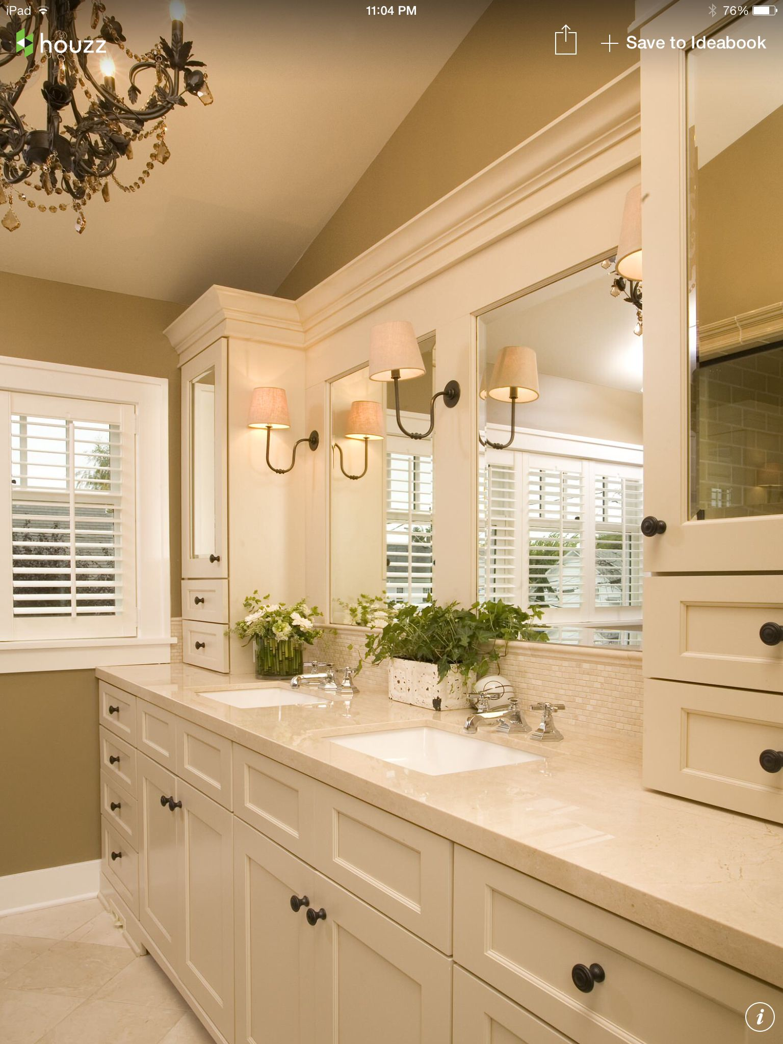 Like the upper cabinets | Bathrooms | Pinterest