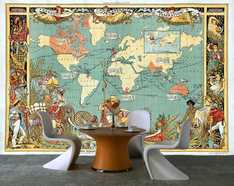 Self adhesive ancient world map old british empire decorating photo self adhesive ancient world map old british empire decorating photo wall mural wallpaper peel and stick gumiabroncs Images