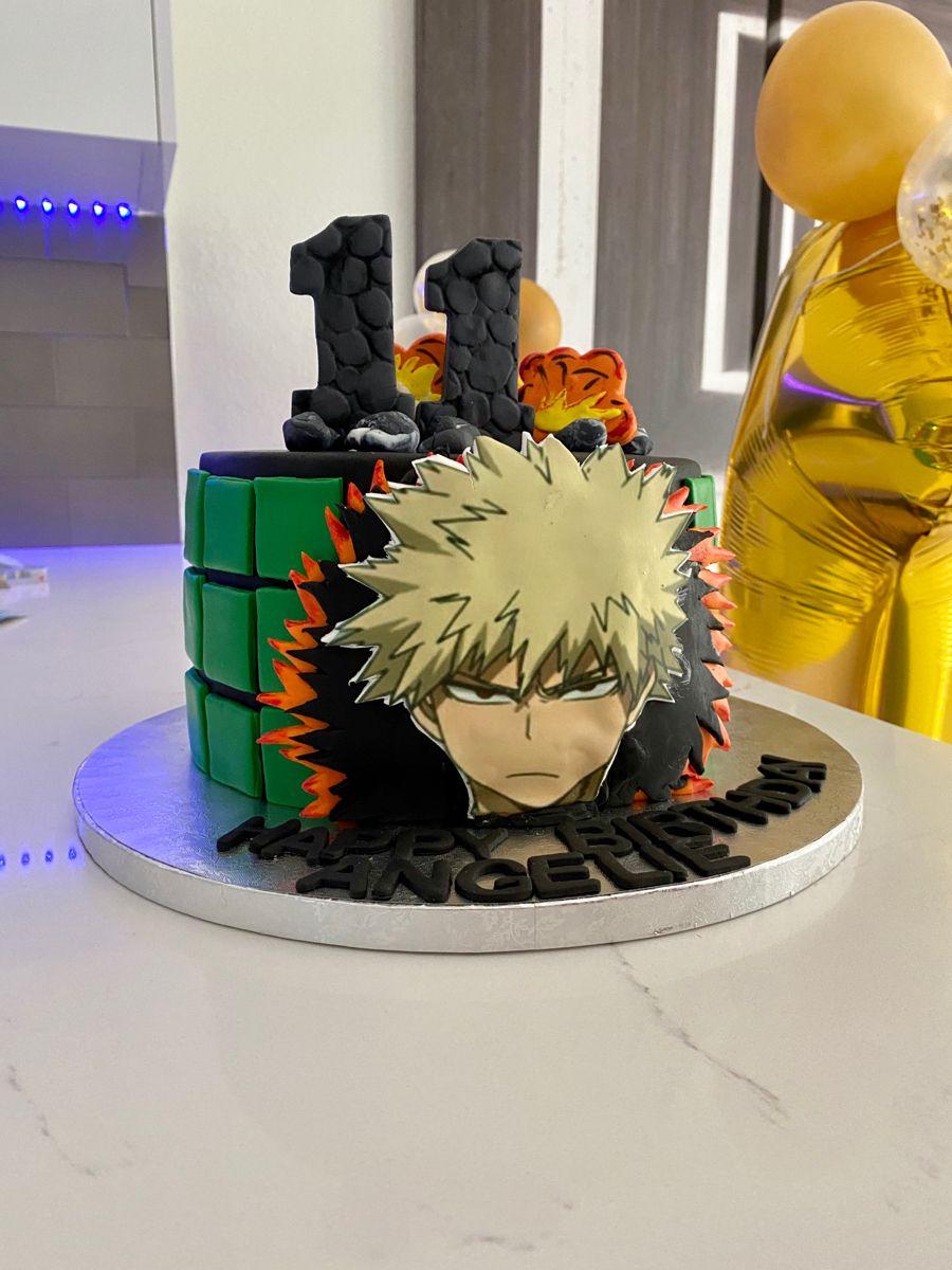 Katsuki Bakugou Birthday Cake Anime Cake Cake Nerdy Nummies