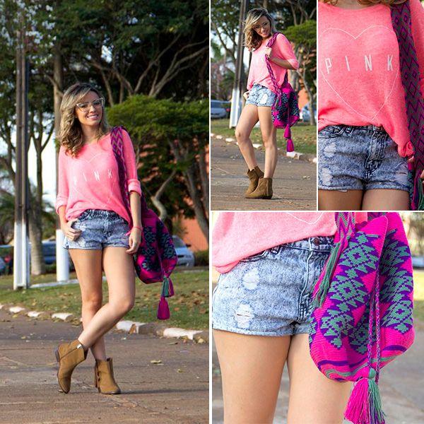 @TacieleAlcolea optou em utilizar a Bolsa Wayuu da Charme Dalu com um Look casual e meia estação !!! #amamos #lookcharmedalu Confira todas os detalhes no blogdalu: http://blogcharmedalu.com.br/look-descolado-com-bolsa-wayuu-taciele-alcolea/