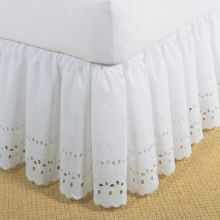 Levinsohn Eyelet Ruffled Bedding Bed Skirt Walmart Com With