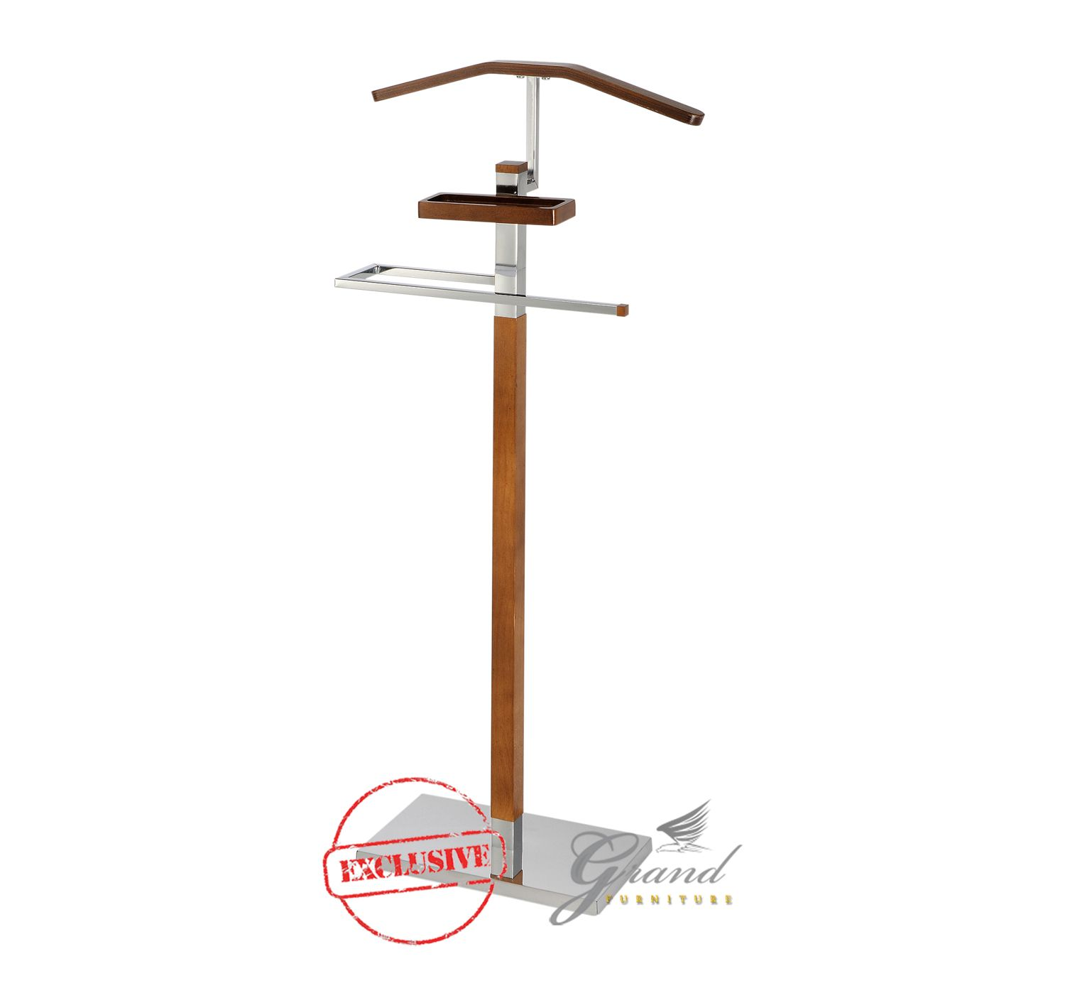 Beautiful Brooke Contemporary Clothes Valet Stand Butler Home Office Coat Hanger Rack