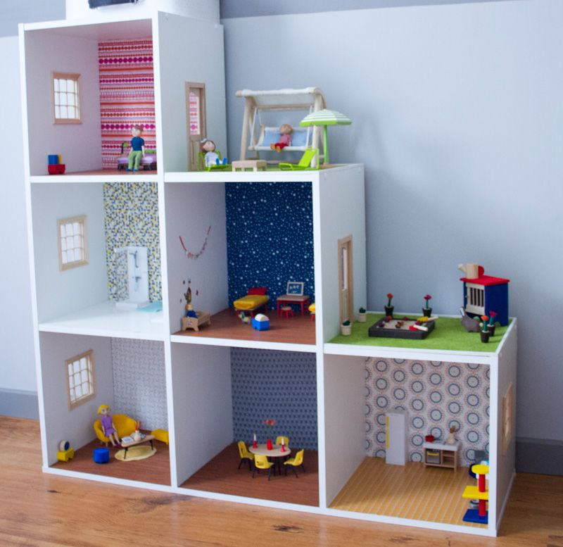 maison poup e diy ikea hacking dollhouse etagere. Black Bedroom Furniture Sets. Home Design Ideas