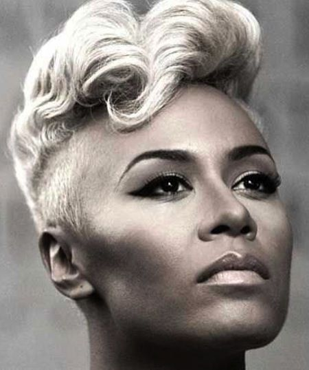 Enjoyable Luvin This Look Short Retro Hairstyle Blonde Shaved Sides With Short Hairstyles Gunalazisus