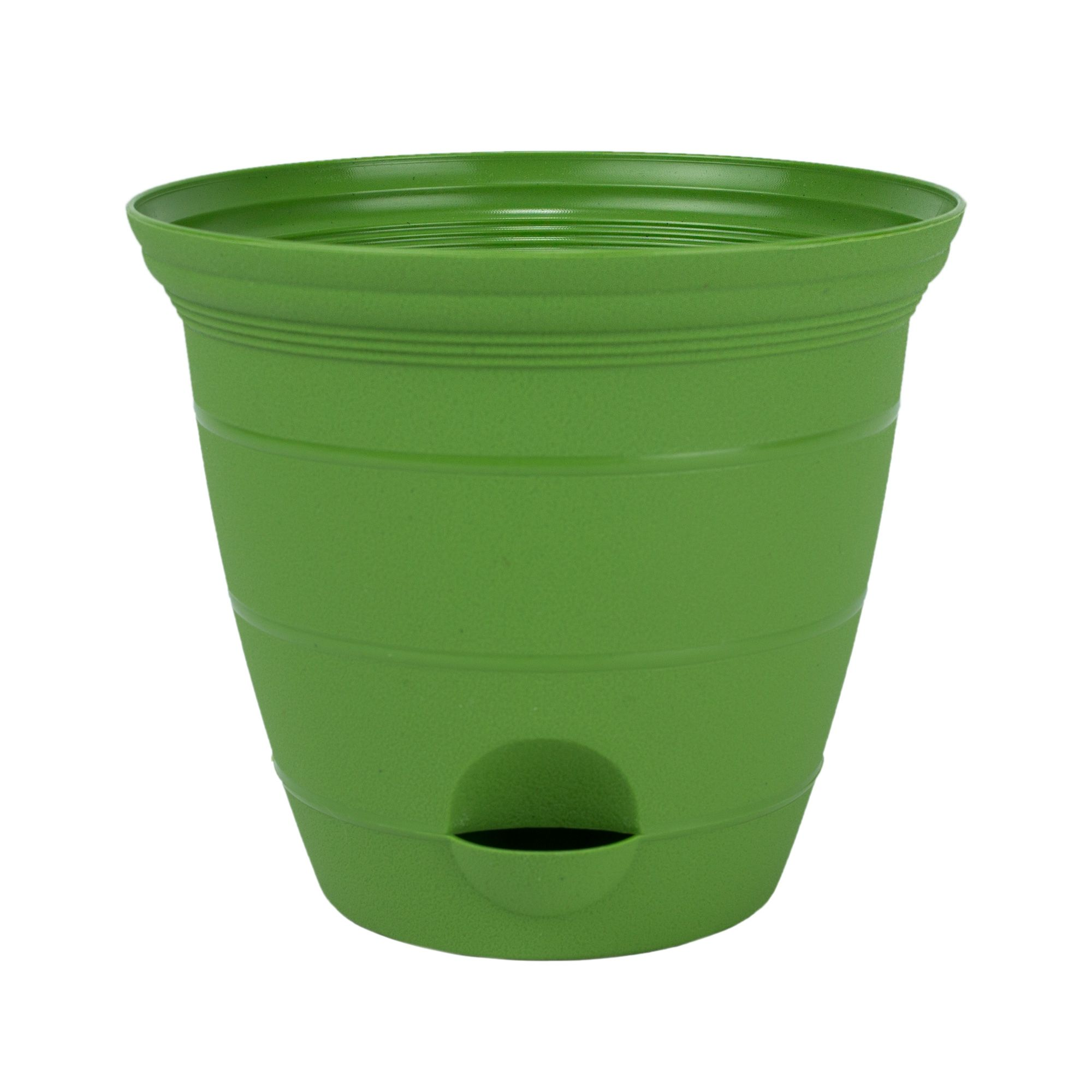 Misco 2 Pack 12 Inch Plastic Self Watering Terra Flower Plant Pot Garden Potted Planter Green Planting Flowers Garden Pots Self Watering