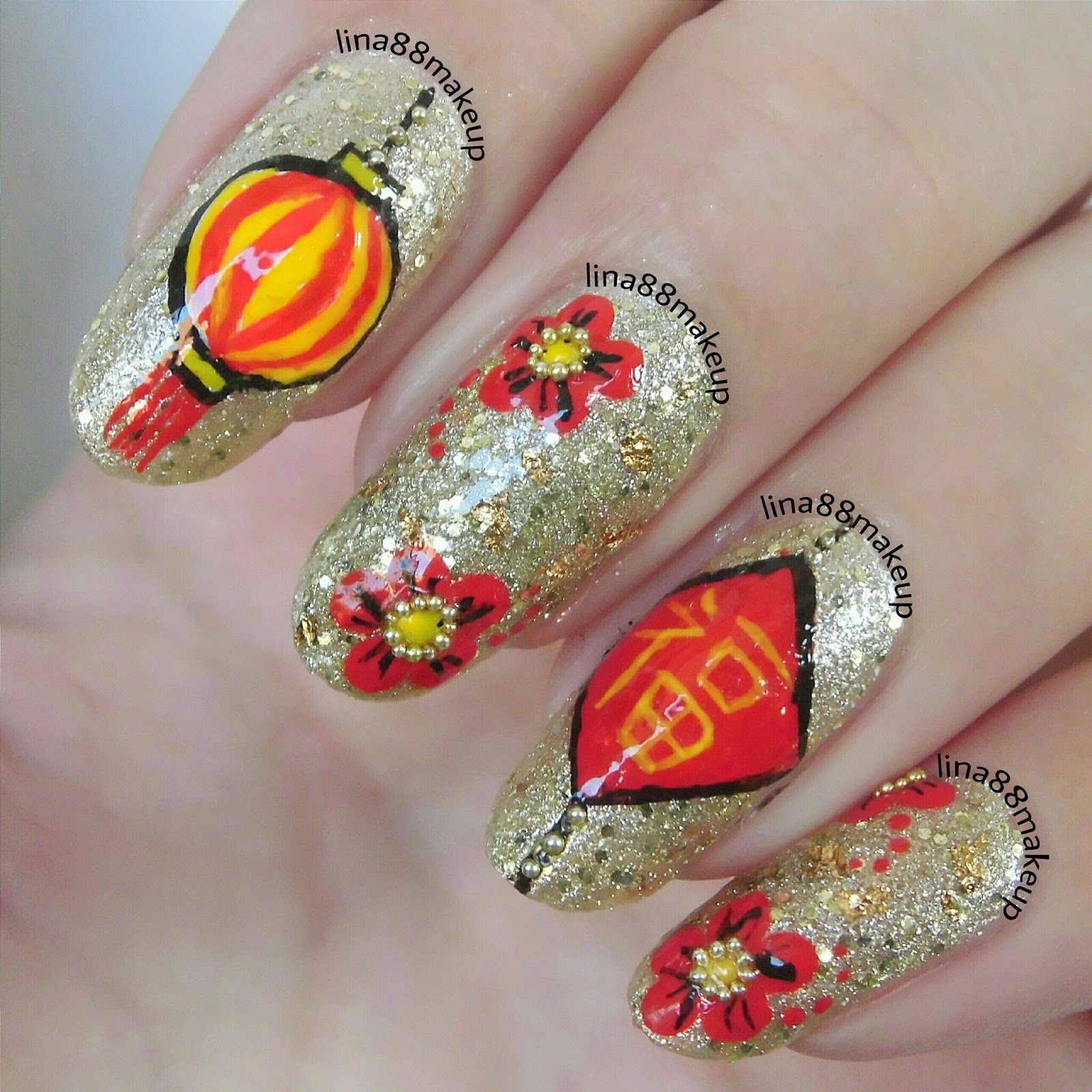 Chinese new year 2015 nail art design google search nail art chinese new year 2015 nail art design google search prinsesfo Gallery