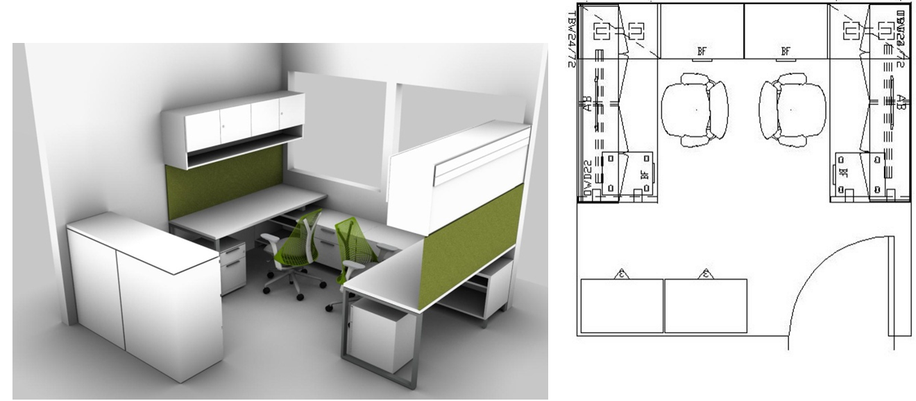 designing a small space check out this article with small spaces design ideas perfect small office layouts for two workers in a 10 x 10