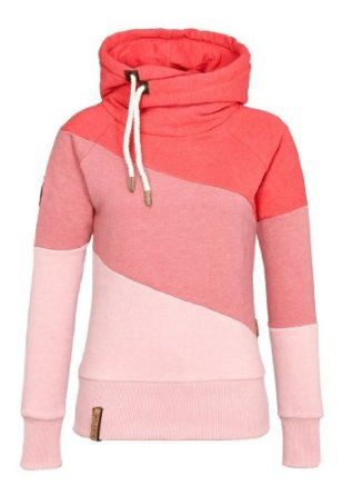 Ombre Pink Coral Tunnel Neck from Naketano | Cool hoodies
