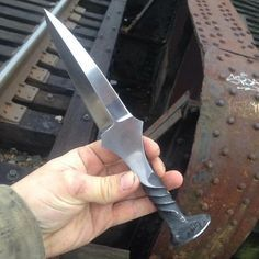 Railroad Spike Dagger by AndyAlmKnives on Etsy