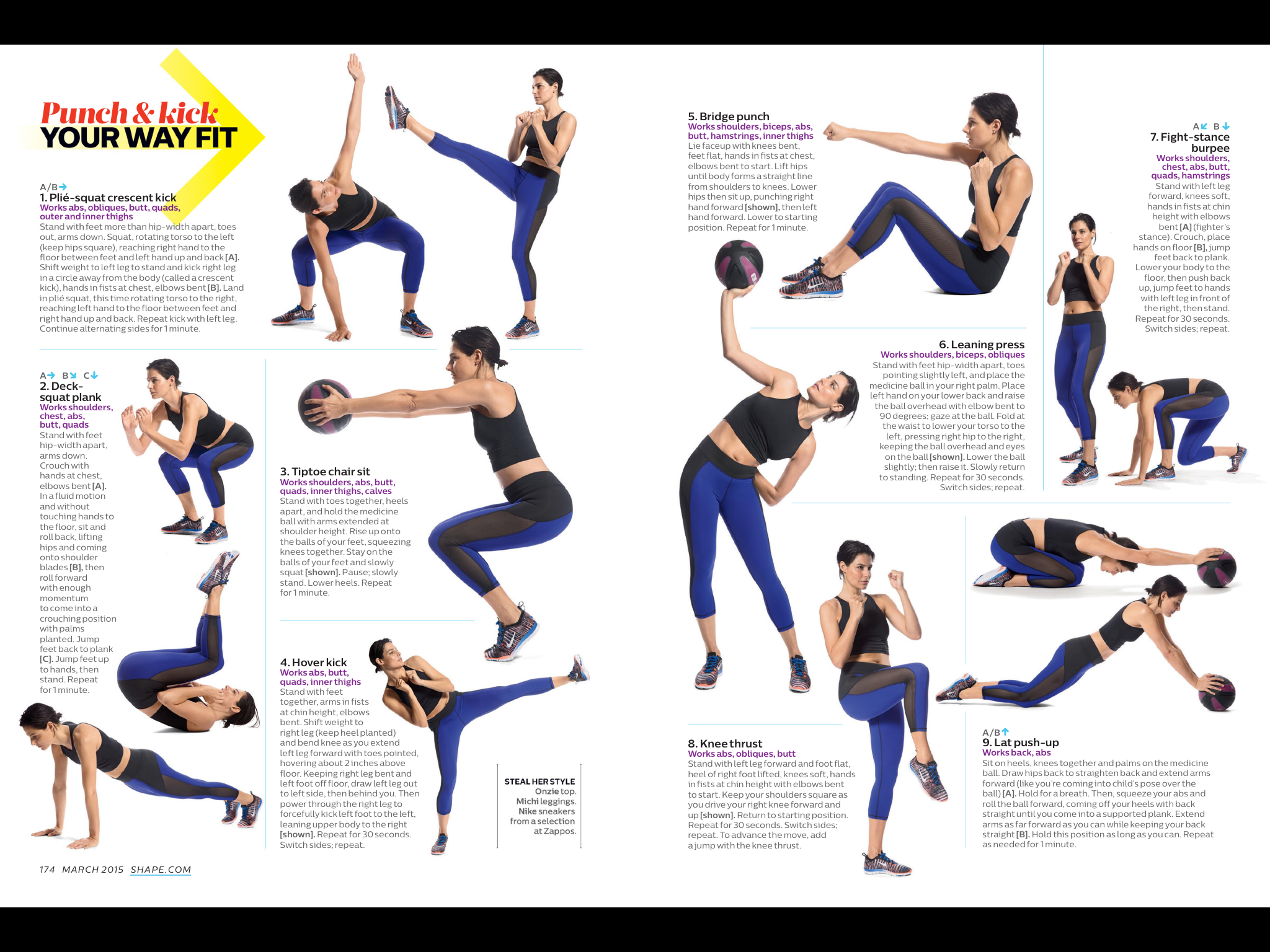 Punching Workout Shape Com Workout Routine Fitness Body Exercise
