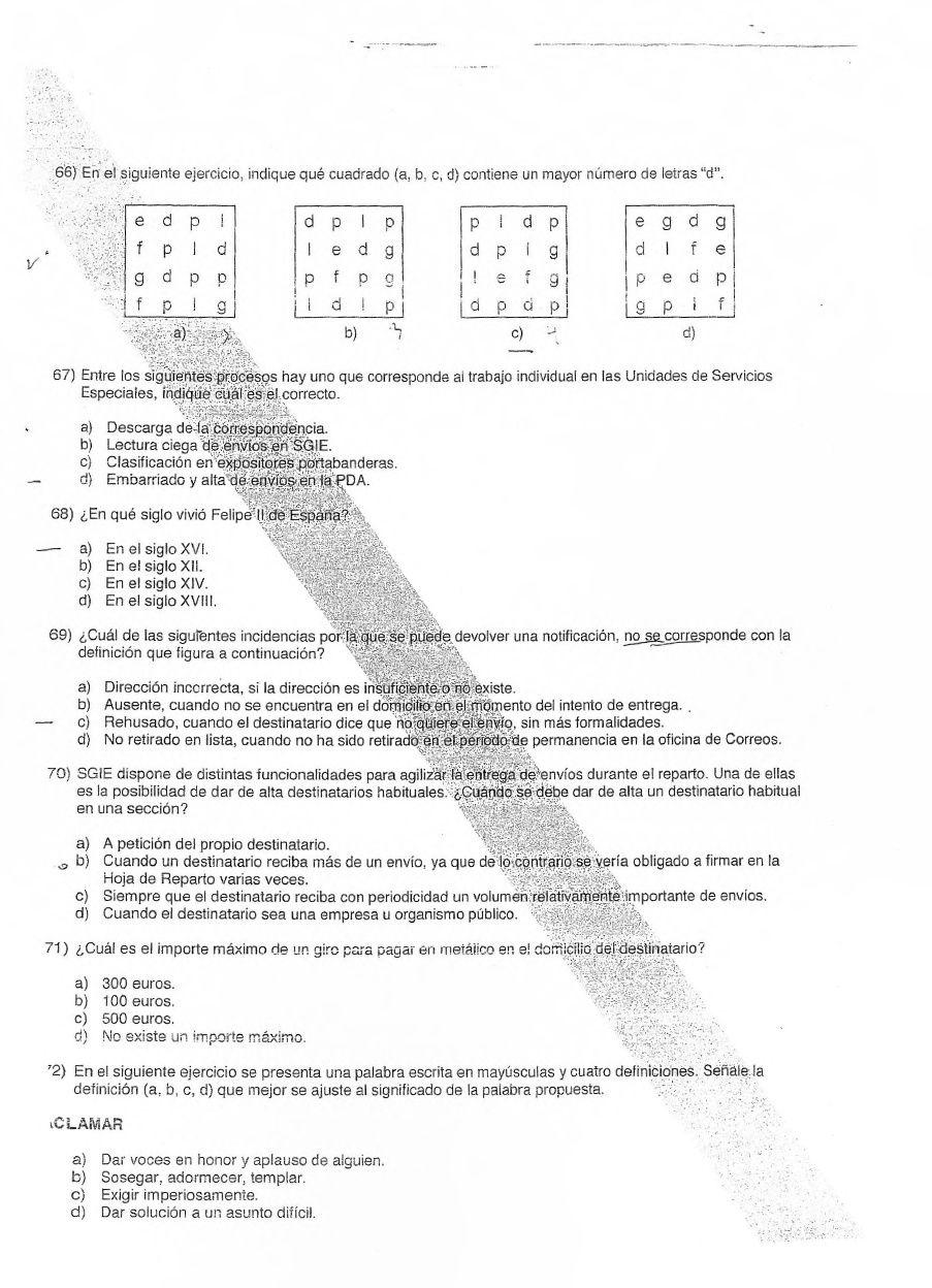 Examenes Correos 2008 y 2009 | Correos | Pinterest