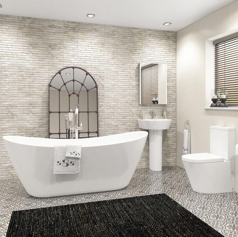 AMBIENTE URBANO en 2020   Bañera exenta, Diseño de baños ...
