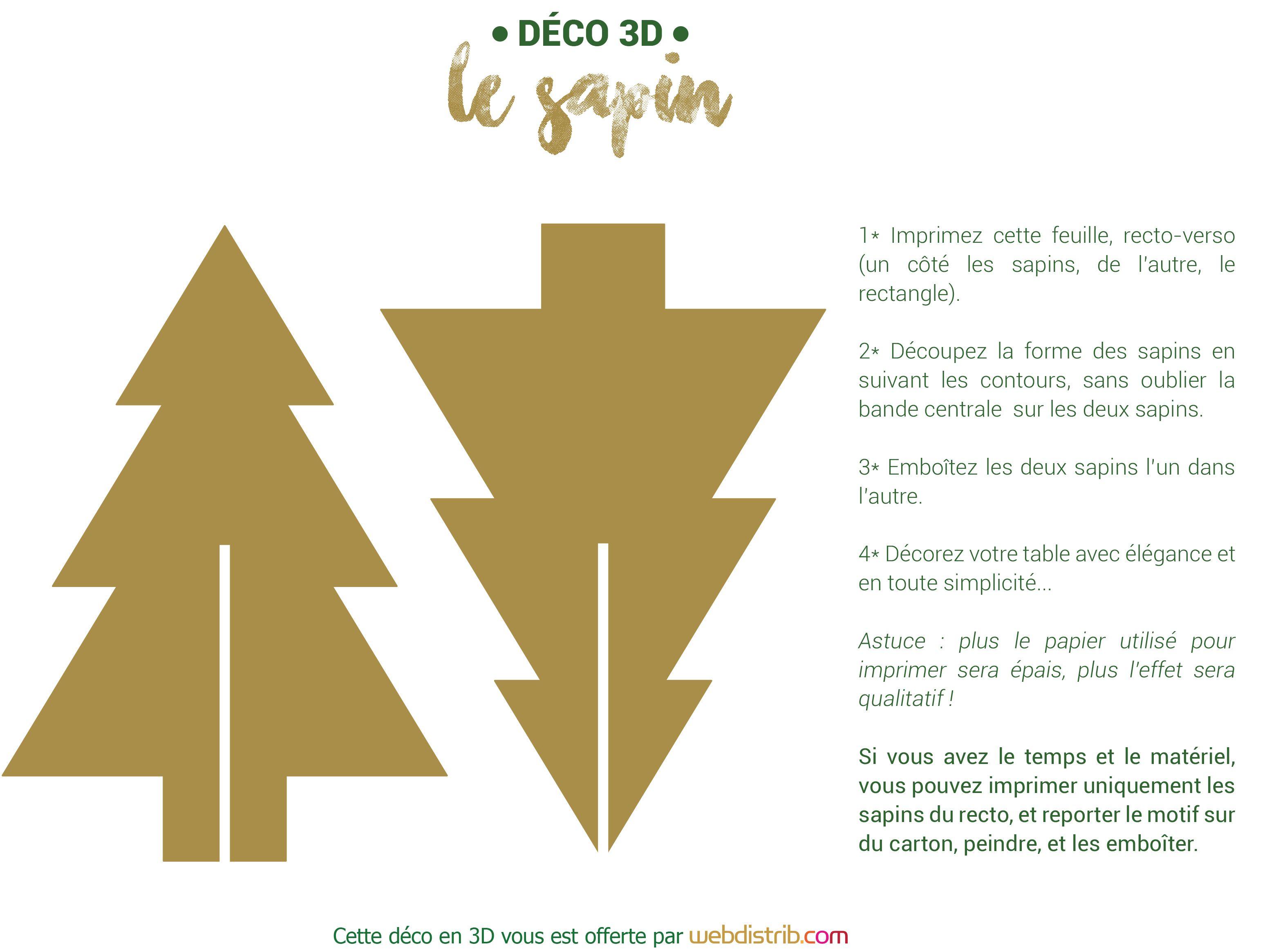 Sapin De Noel 3d A Imprimer Le calendrier de l'avent de Webdistrib | Calendrier de l'avent