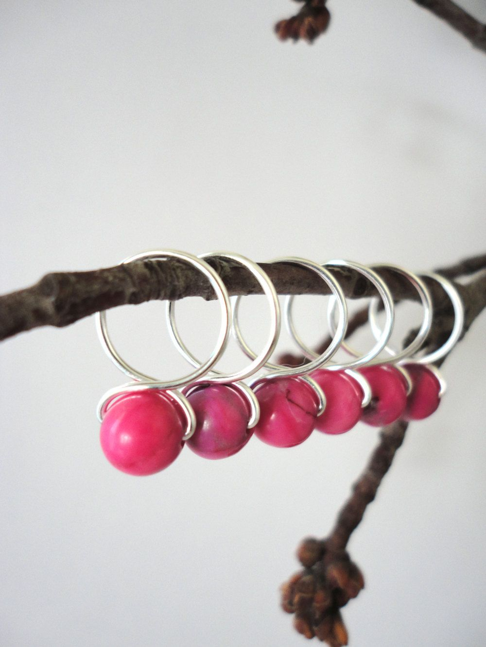 Tickled Pink Stitch Markers Medium by HeidiandLana on Etsy, $8.00