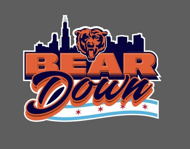 Chicago Bears Bear Down Removable Wall Decal Etsy In 2020 Chicago Bears Chicago Bears Wallpaper Chicago Bears Football