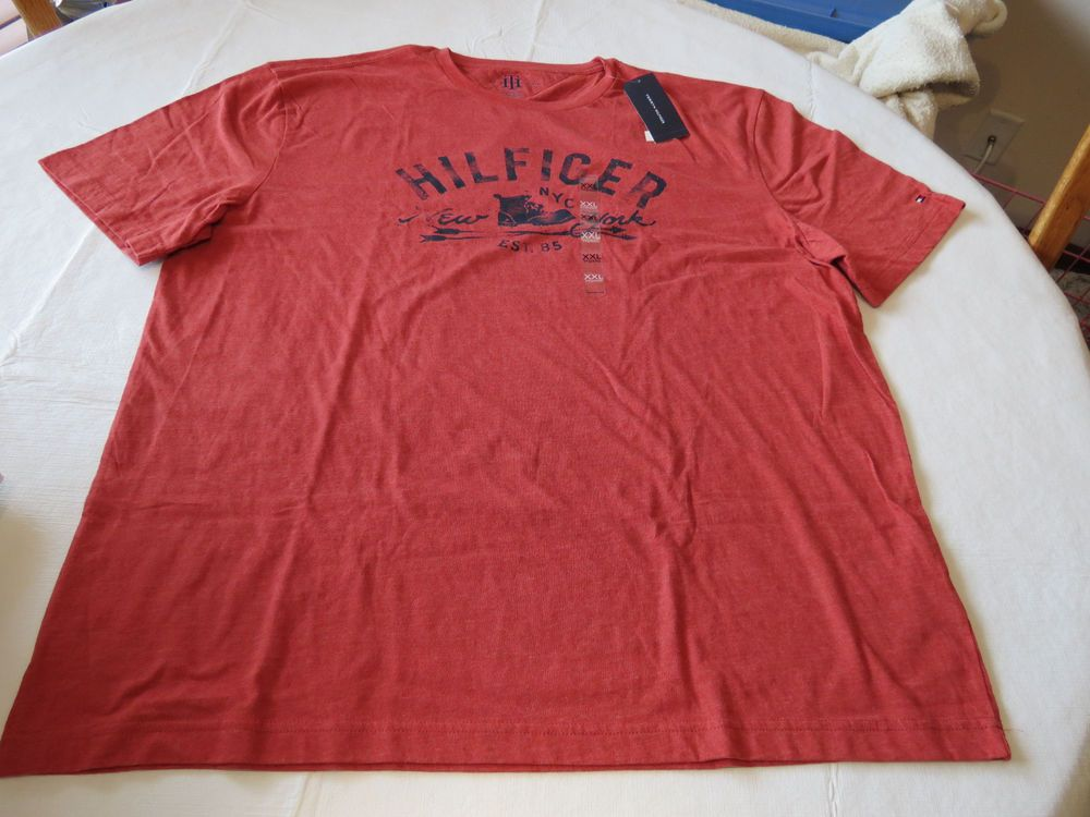 Men's Tommy Hilfiger short sleeve T shirt XXL 2XL 7868582 Orange Melange 813 #TommyHilfiger #BasicTee