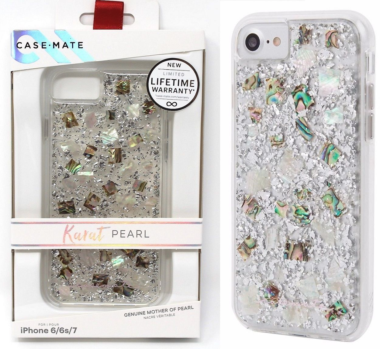 Original Case Mate Karat Pearl Mother Of Pearl Case Cover Iphone 8
