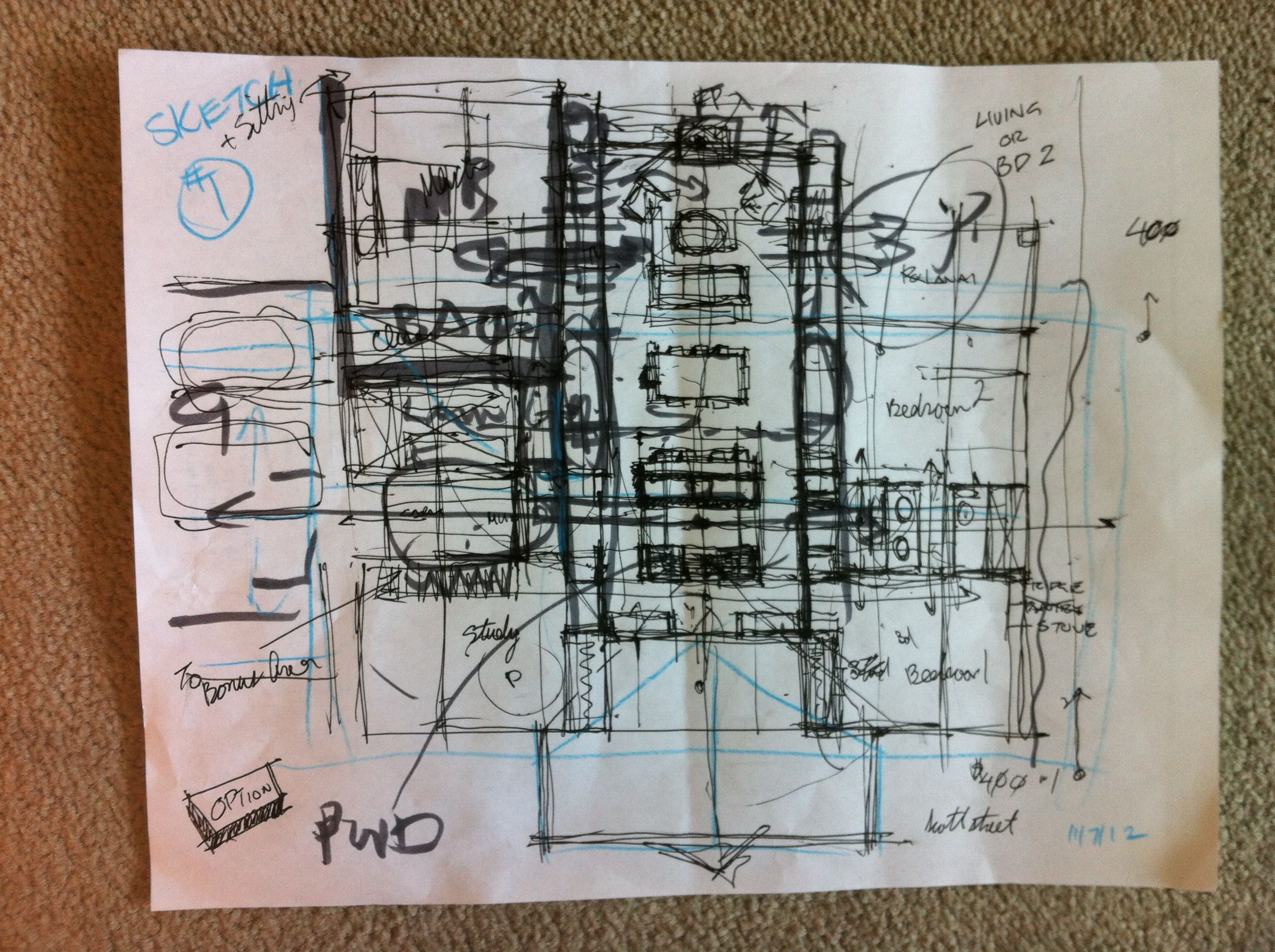 Sketch of a new house that is in the works....
