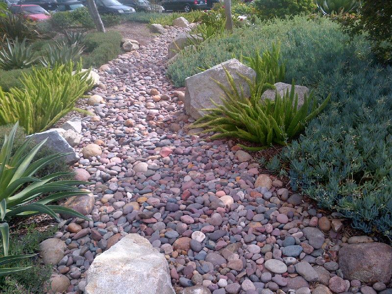 River Bed In Backyard : dry river bed idea  big and small rocks  Dream Backyard  Pinterest
