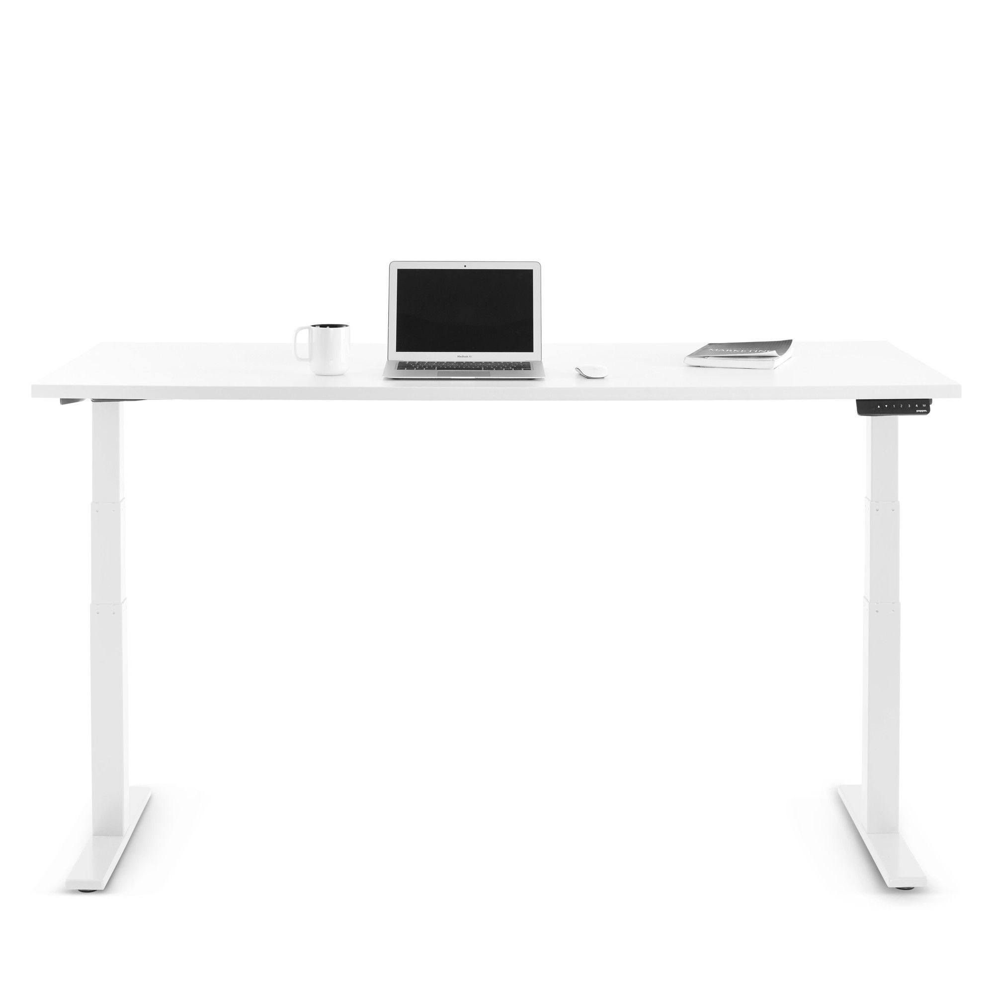 Series L Adjustable Height Single Desk White Legs Adjustable Height Desks Adjustable Height Desk Single Desk Adjustable Height Standing Desk