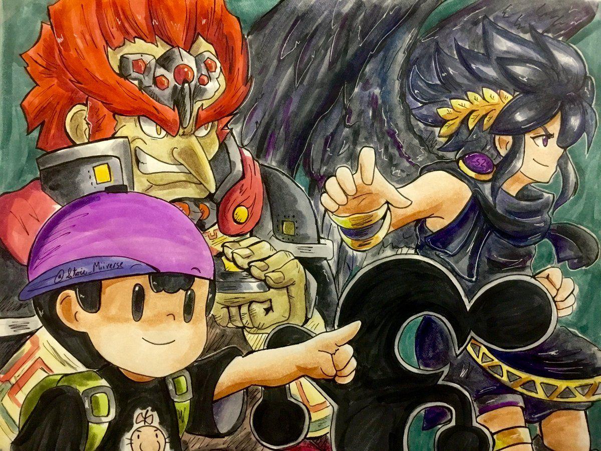 Mr Game Watch Ganondorf Ness And Dark Pit Super