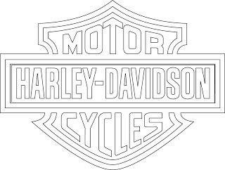 harley davidson logo clip art logotipo de harley davidson rh pinterest com harley davidson emblem outline harley davidson emblem outline