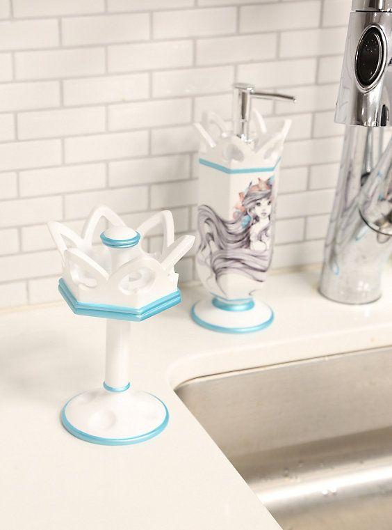 Disney The Little Mermaid Ariel Crown Toothbrush Holder Brushing Teeth Toothbrush Holder The Little Mermaid