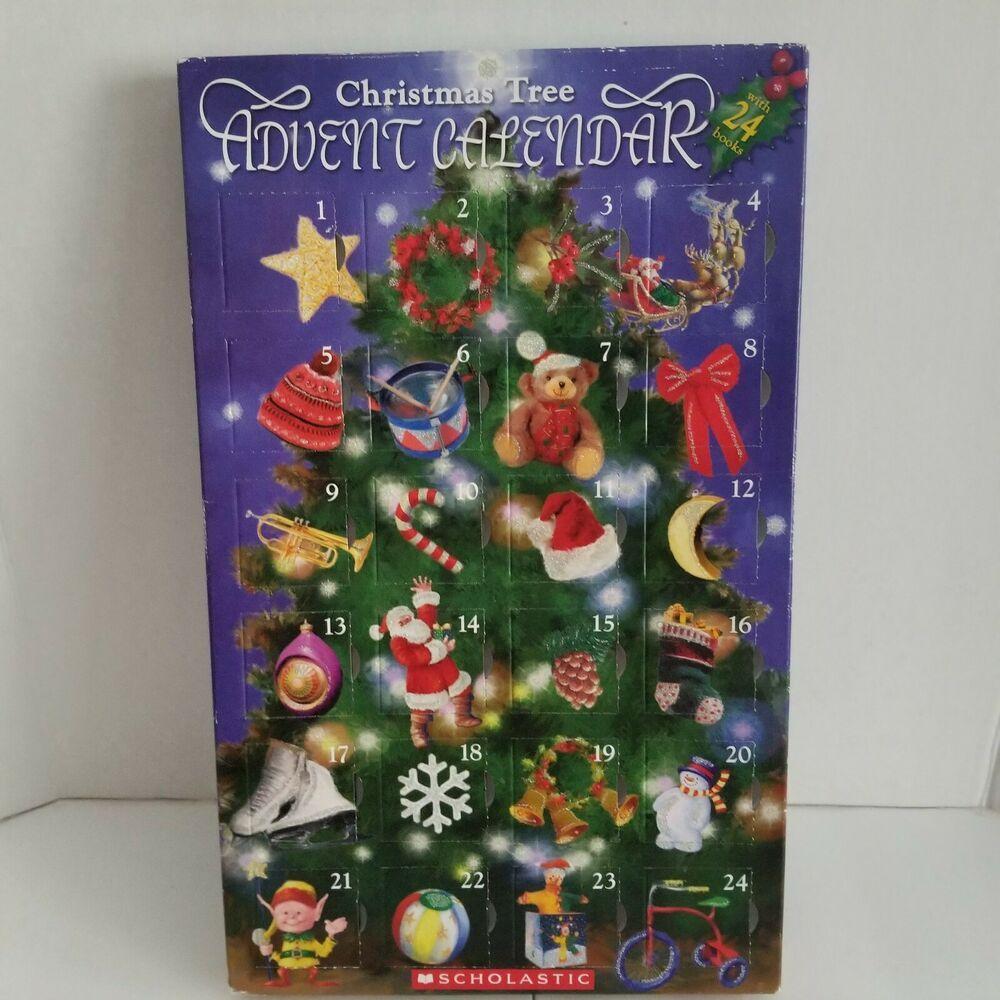Scholastic Tangerine Press Christmas Advent Calendar 24 Mini Book Ornaments 2006 Sch Christmas Advent Calendar Christmas Tree Advent Calendar Christmas Advent