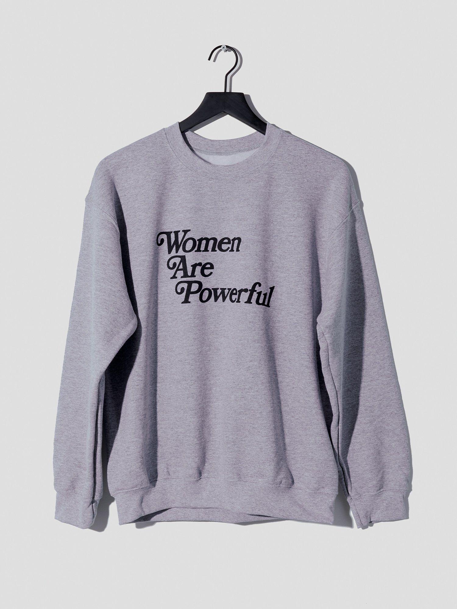 Women Are Powerful Sweatshirt in Gray Jersey – S
