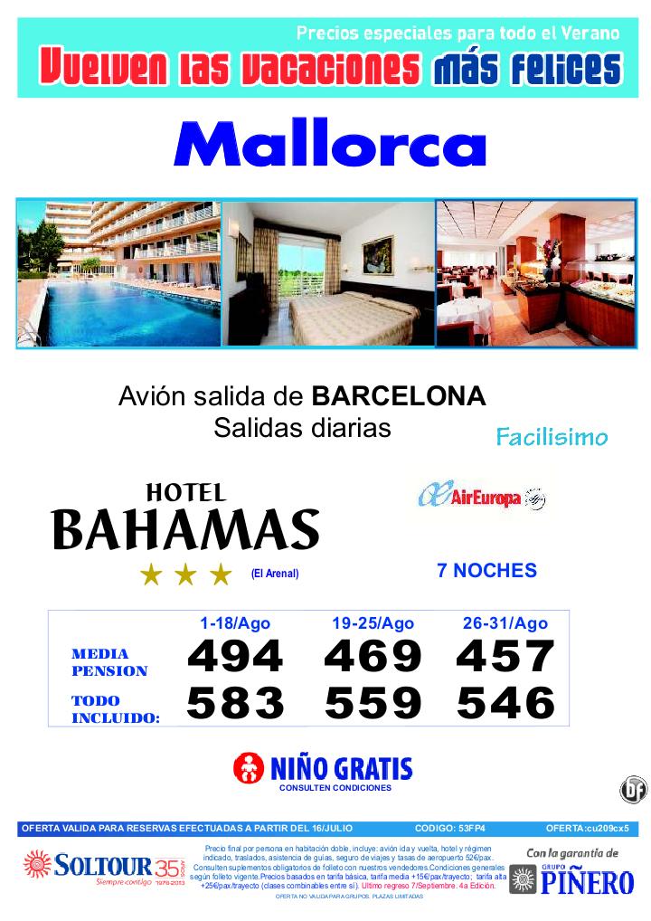 4ªEdición Las vacaciones mas felices. Hotel Bahamas salidas desde Barcelona - http://zocotours.com/4aedicion-las-vacaciones-mas-felices-hotel-bahamas-salidas-desde-barcelona/