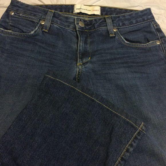 Paper Denim & Cloth Stretch Boot cut Size 26 Paper Denim & Cloth Size 26 stretch boot cut 2-mod-77 blue fusion 97% cotton 3% Lycra 8 inch rise 32 inch inseam Paper Denim & Cloth Jeans