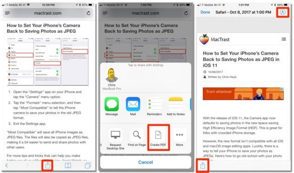 How To Save a Safari Webpage as a PDF with iOS 11 Ios 11