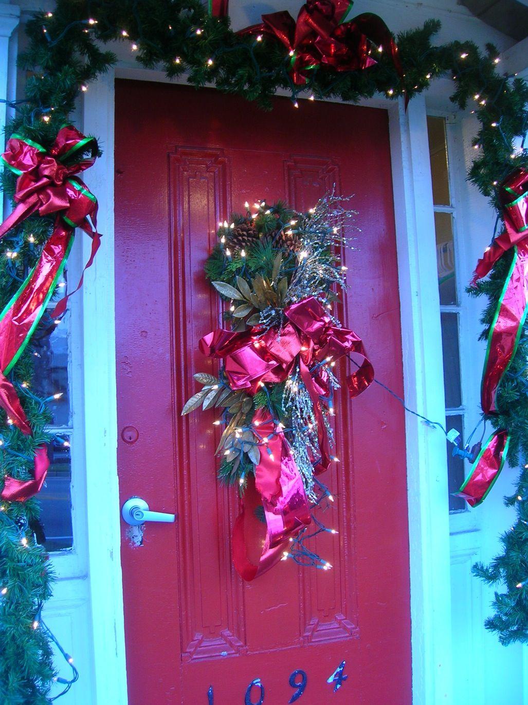 10+ Weihnachtsschmuck für Außentüren #leiterdekoweihnachten